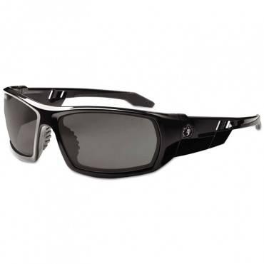 Skullerz Odin Safety Glasses, Black Frame/smoke Lens, Anti-fog, Nylon/polycarb