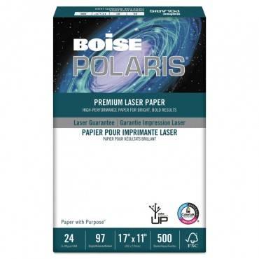 Polaris Premium Laser Paper, 98 Bright, 24 Lb, 11 X 17, White, 500/ream