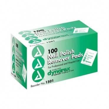 Dynarex  Nail Polish Remover Pads Box/100 Part No.1501
