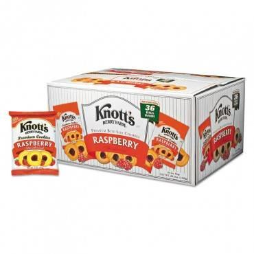 Premium Berry Jam Shortbread Cookies, Raspberry, 2 Oz Pack, 36/carton