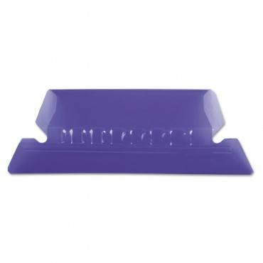 Hanging File Folder Tabs, 1/5 Tab, Two Inch, Violet Tab/white Insert, 25/pack
