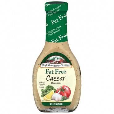 Maple Grove Farms - Fat Free Salad Dressing - Caesar - Case Of 12 - 8 Oz.