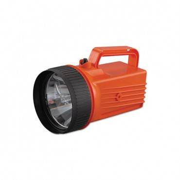 Worksafe Waterproof Lantern, 6 V Battery (not Included), Orange/black