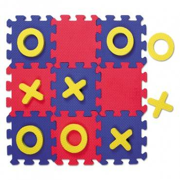 Creativity Street  WONDERFOAM EARLY LEARNING, TIC TAC TOE PUZZLE MAT, AGES 3 AND UP AC4392 1 Each