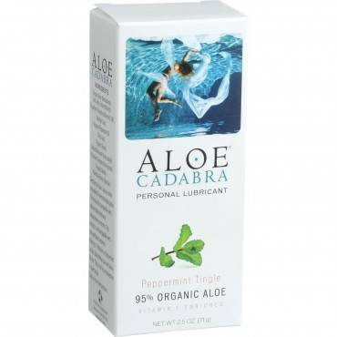 Aloe Cadabra Personal Lubricant - Peppermint - 2.5 Oz.