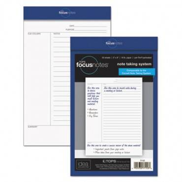 Focusnotes Legal Pad, Meeting Notes, 5 X 8, White, 50 Sheets