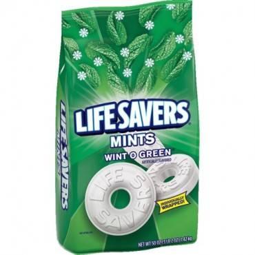 Life Savers Wint O Green Mints Bag - 3 lb. 2 oz. (PK/PACKAGE)