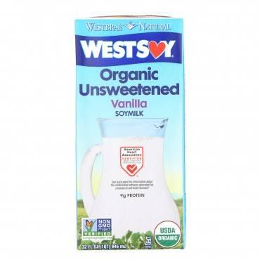 Westsoy Organic Vanilla - Unsweetened - Case Of 12 - 32 Fl Oz.