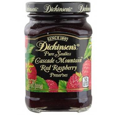 Dickinson - Pure Seedless Cascade Mountain Red Raspberry Preserves - Case Of 6 - 10 Oz.