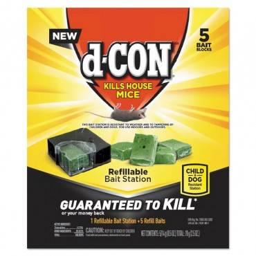 D Con  REFILLABLE BAIT STATION AND REFILLS, 1 BAIT BLOCK;5 REFILLS/BOX, 8/CARTON 19200-98343 8 Case