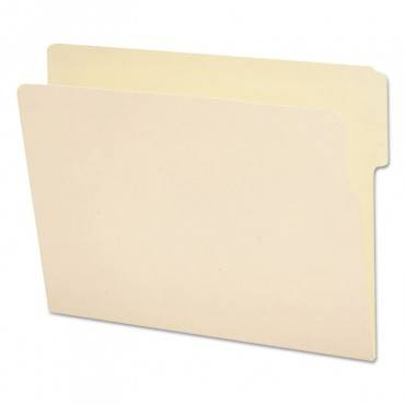 """Heavyweight Manila End Tab Folders, 9"""" Front, 1/3-cut Tabs, Top Position, Letter Size, 100/box"""