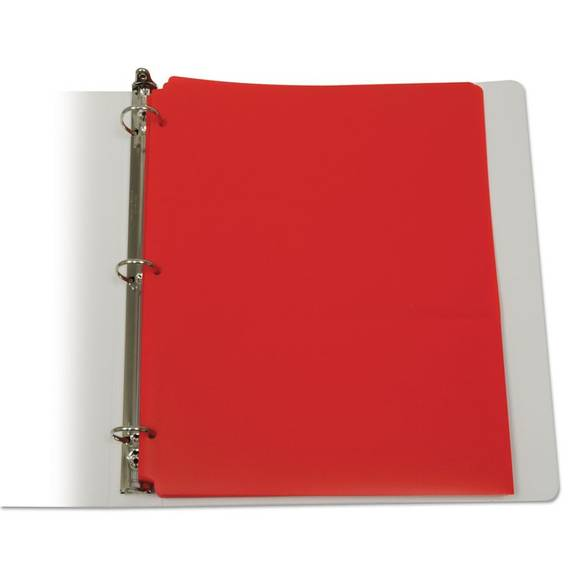C Line Two-pocket Heavyweight Poly Portfolio Folder, 3