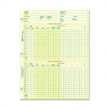 Rediform National Payroll Filler Sheets (PK/PACKAGE)