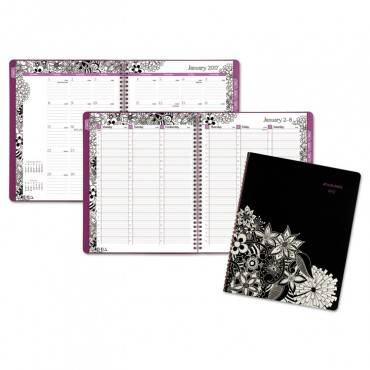 At A Glance  Floradoodle Professional Weekly/Monthly Planner, 9 3/8 X 11 3/8, 2019