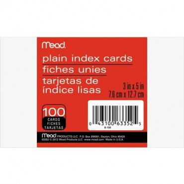 Mead 90 lb Stock Index Cards (PK/PACKAGE)