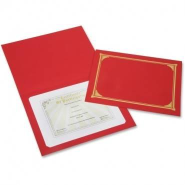 SKILCRAFT Linen Gold Foil Certificate Holder (PK/PACKAGE)