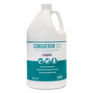 Conqueror 103 Odor Counteractant Concentrate, Cherry, 1 Gal Bottle, 4/carton