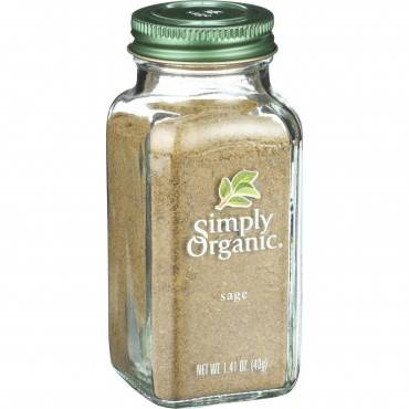 Simply Organic Sage Leaf - Organic - Ground - 1.41 Oz