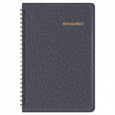 Weekly Appointment Book Ruled For Hourly Appointments, 8 X 4 7/8, Black, 2020