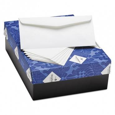Writing 25% Cotton Business Envelopes, #10, Bankers Flap, Gummed Closure, 4.13 X 9.5, Bright White, 500/box