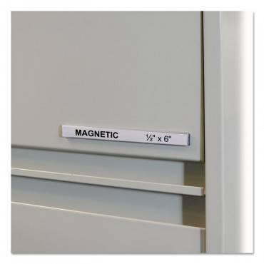 "C Line  HOL-DEX MAGNETIC SHELF/BIN LABEL HOLDERS, SIDE LOAD, 1/2"" X 6"", CLEAR, 10/BOX 87207 10 Box"