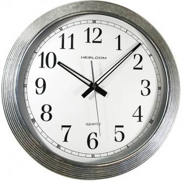 "Artistic 16"" Galvanized Metal Round Wall Clock (EA/EACH)"