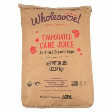 Wholesome Sweeteners Cane Sugar - Organic And Natural - Case Of 50 Lbs