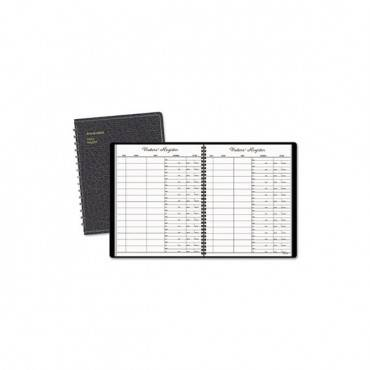 Recycled Visitor Register Book, Black, 8.38 X 10.88