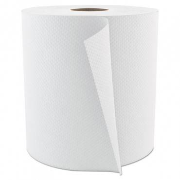 """Cascades Pro Select Roll Paper Towels, 1-Ply, 7.875"""" X 800 Ft, White, 6/carton H084 6 Case"""