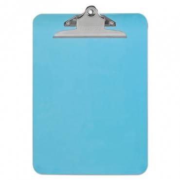 """Plastic Clipboard W/high Capacity Clip, 1"""", Holds 8 1/2 X 12, Translucent Blue"""