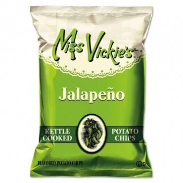 Kettle Cooked Jalapeno Potato Chips, 1.375 Oz Bag, 64/carton