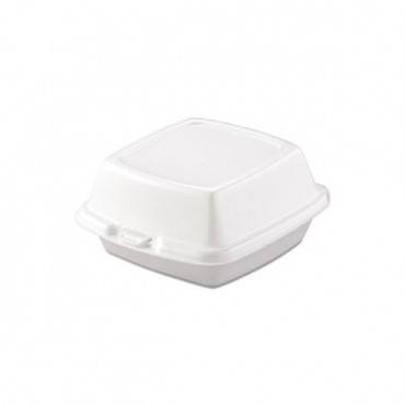 Carryout Food Containers, Foam, 1-comp, 5 7/8 X 6 X 3, White, 500/carton