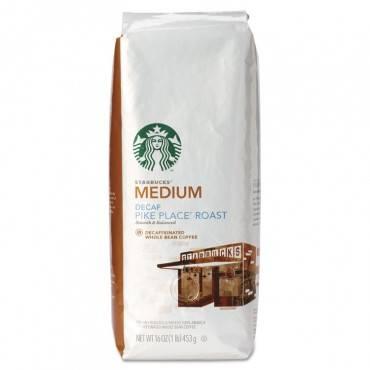 Starbucks  Whole Bean Coffee, Decaf Pike Place Roast, 1 Lb Bag 11015640 1 Each