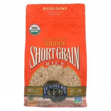 Lundberg Family Farms Organic Short Grain Brown Rice - Case Of 6 - 2 Lb.