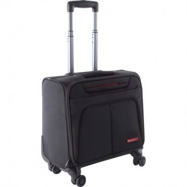 "Swiss Mobility Carrying Case (Roller) for 15.6"" Notebook - Black (EA/EACH)"