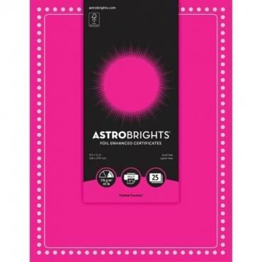 Astrobrights Foil Enhanced Certificates - Dots Design (PK/PACKAGE)