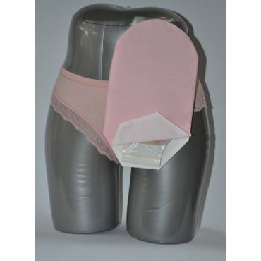 """Daily Wear Pouch Cover, Open End, Fits Flange Opening Of 3/4"""" To 2-1/4"""", Overall Length 10"""", Pink Part No. 58277-1 (1/ea)"""