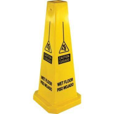 Genuine Joe Bright Four-sided Caution Safety Cone (EA/EACH)