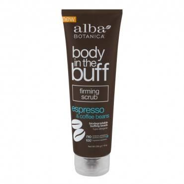 Alba Botanica Body In The Buff Scrub - Firming Espresso And Coffee Beans - 9 Oz.