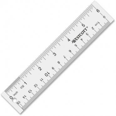 Westcott See-Through Acrylic Rulers (EA/EACH)