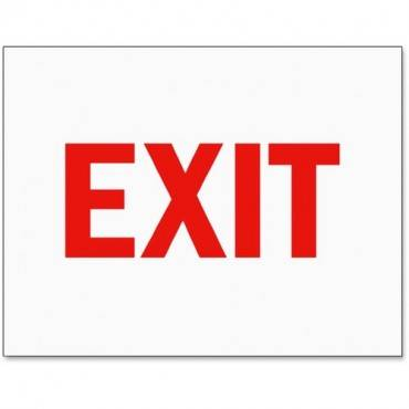 Tarifold Magneto Safety Sign Inserts-Exit (PK/PACKAGE)