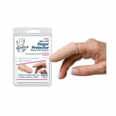 Pedifix Visco-GEL Fabric-Covered Finger Protector Large Part No.P4050-L