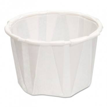 Paper Portion Cups, 1.25 Oz., White, 250/bag, 20 Bags/carton