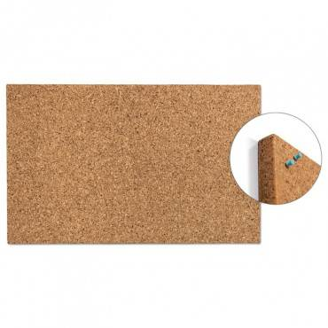 "Iceberg Designer Cork Bulletin Board, 24"" X 38"", Natural 35010 1 Each"