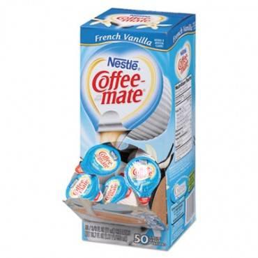 Liquid Coffee Creamer, French Vanilla, 0.38 Oz Mini Cups, 50/box