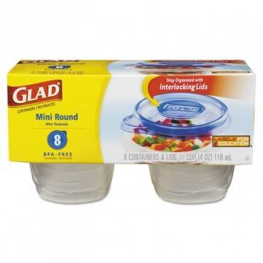 Mini Round Food Storage Containers, 4 Oz, 8/pk, 12 Pk/ctn