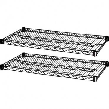 """Lorell 2 Extra Shelves for Industrial 48""""x18"""" Wire Shelving (CA/CASE)"""