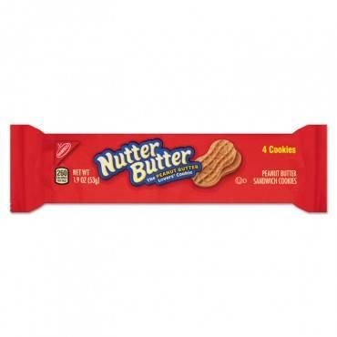 Nutter Butter Cookies, 3 Oz Bag, 48/carton