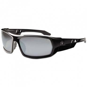 Skullerz Odin Safety Glasses, Black Frame/silver Lens, Nylon/polycarb