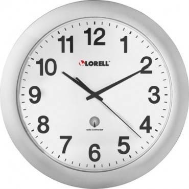 "Lorell 12"" Round Radio-controlled Wall Clock (EA/EACH)"